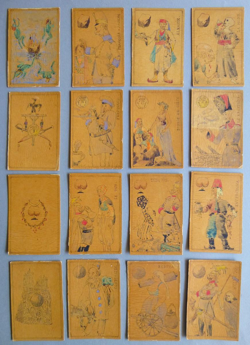 LAUNAY Edmond (dessinateur) : Jeu de cartes satirique ayant pour thème la Guerre 14-18
