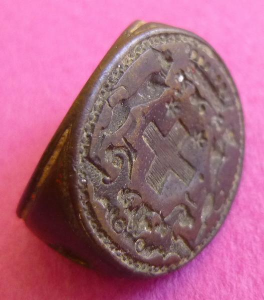 sceau, matrice, cachet : Cachet aux armes des Kervasegan (titre d'usage)