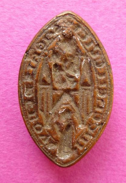 sceau, matrice (factice) : Reproduction du sceau de Jean de Boulin (titre d'usage)
