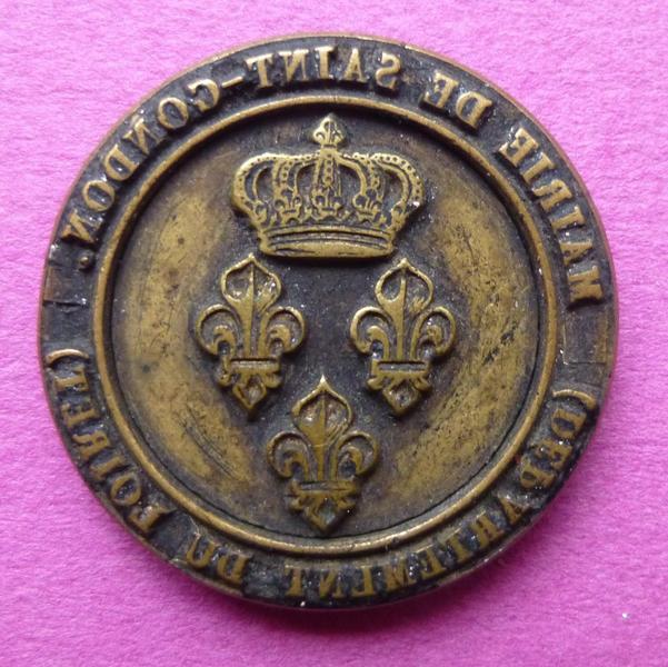 Cachet de la mairie de Saint-Gondon, Loiret (titre d'usage)_0
