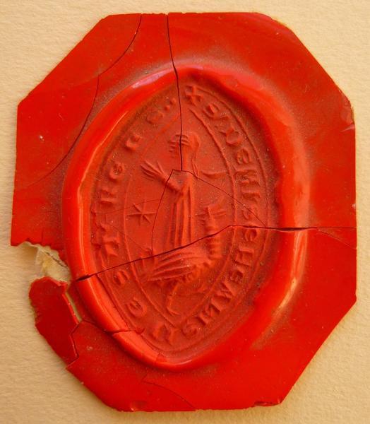 Empreinte du sceau d'Alix d'Estrées (titre d'usage)_0