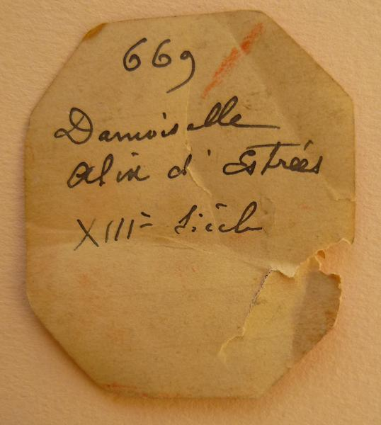 sceau, empreinte : Empreinte du sceau d'Alix d'Estrées (titre d'usage)