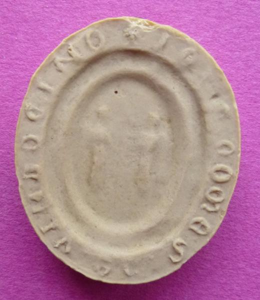 sceau, empreinte : Moulage du contre-sceau de Jean IV, comte de Vendôme (titre d'usage)