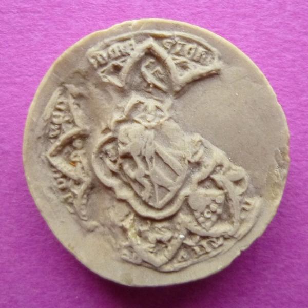 Moulage du sceau armorié de Jeanne de Ponthieu, régente du comté de Vendôme (titre d'usage)_0