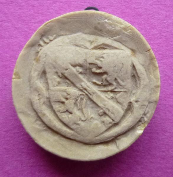 Moulage du sceau armorié de Louis Ier de Bourbon, comte de Vendôme (titre d'usage)_0