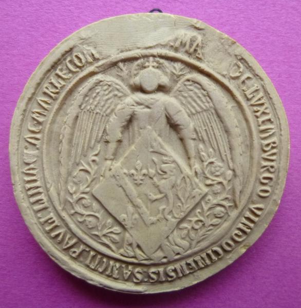 Moulage du sceau armorié de Marie de Luxembourg (titre d'usage)_0