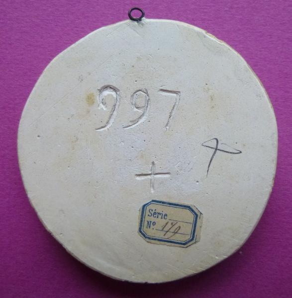 sceau, empreinte : Moulage du sceau armorié de Marie de Luxembourg (titre d'usage)