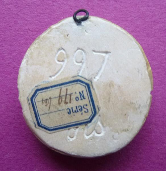 sceau, empreinte : Moulage du contre-sceau armorié de Marie de Luxembourg (titre d'usage)