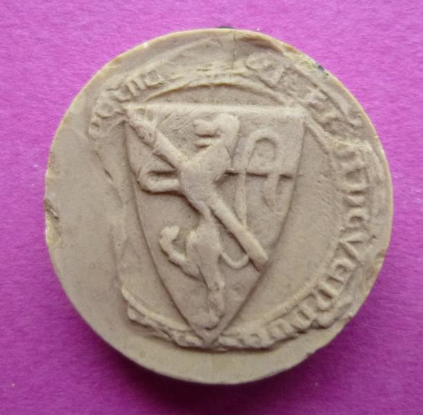 Moulage du sceau armorié de Geoffroi de Vendôme (titre d'usage)_0