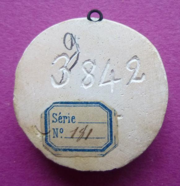 sceau, empreinte : Moulage du sceau armorié de Jean de Vendôme (titre d'usage)