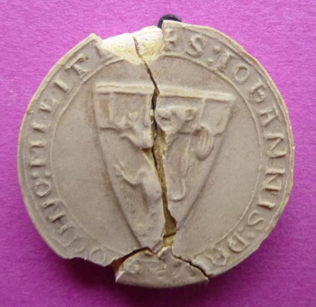 Moulage du sceau armorié de Jean de Vendôme (titre d'usage)_0
