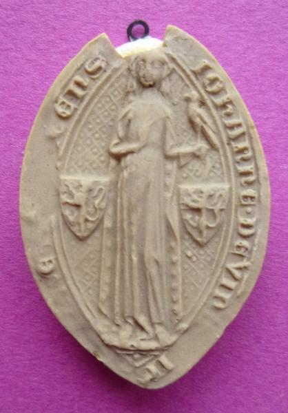 Moulage du sceau de Jeanne de Vendôme, femme de Henri IV de Sully (titre d'usage)_0