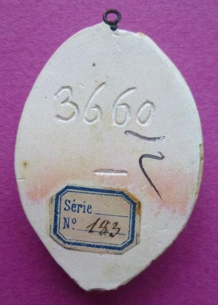 Moulage du sceau de Jeanne de Vendôme, femme de Henri IV de Sully (titre d'usage)