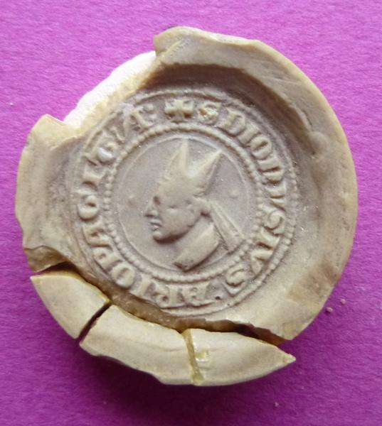 Moulage du contre-sceau de Mathieu de Vendôme, abbé de Saint-Denis (titre d'usage)_0