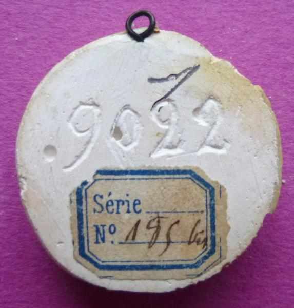 Moulage du contre-sceau de Mathieu de Vendôme, abbé de Saint-Denis (titre d'usage)