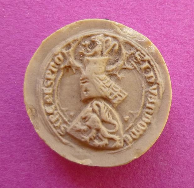 sceau, empreinte : Moulage du second sceau armorié de Jean de Vendôme, fils de Bouchard VI (titre d'usage)