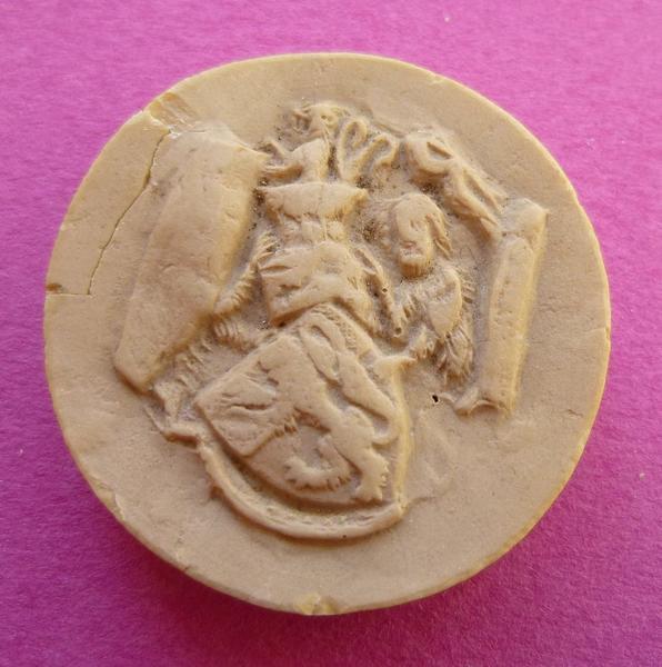 Moulage du sceau armorié de Bouchard VII, comte de Vendôme (titre d'usage)_0