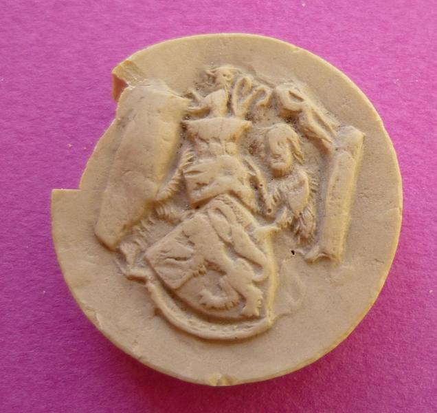 Moulage du sceau armorié de Bouchard VII, comte de Vendôme (titre d'usage)