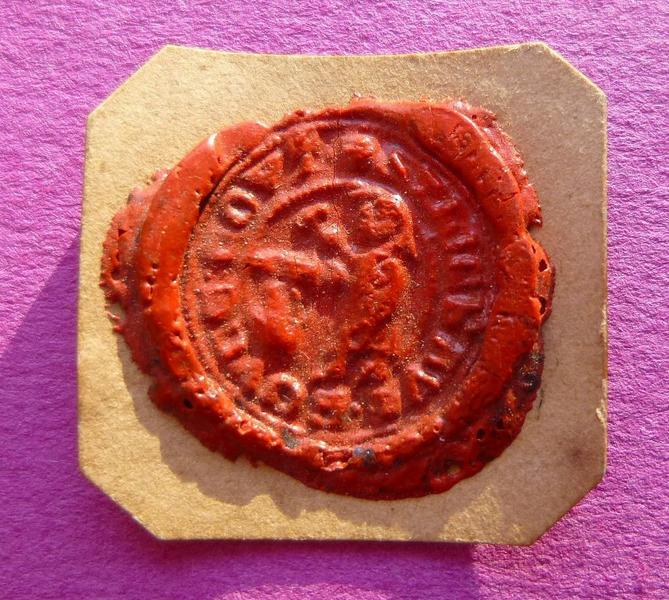 sceau, empreinte : Empreinte du sceau de Thiébaud Bouce Coutelier