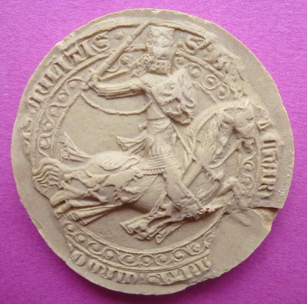 Moulage du sceau équestre de Bouchard VI, comte de Vendôme (titre d'usage)_0