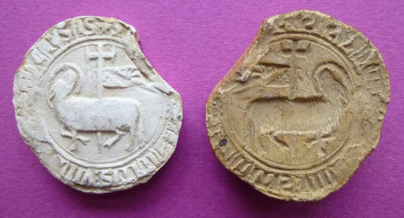 Moulage d'un sceau de l'abbaye de la Trinité de Vendôme (titre d'usage)