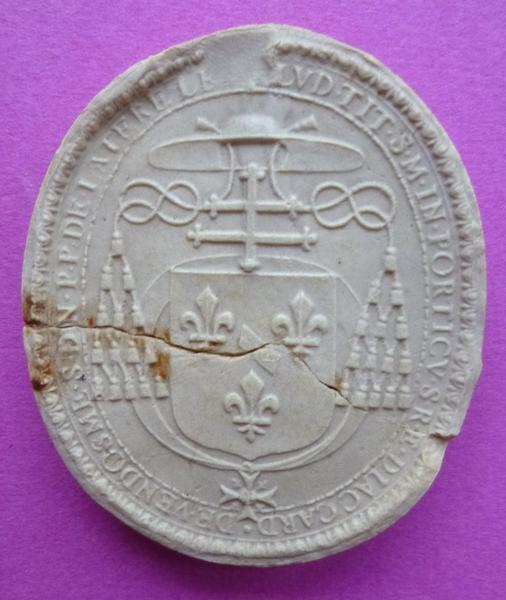 Moulage du sceau armorié de Louis de Bourbon, deuxième duc et cardinal de Vendôme (titre d'usage)_0