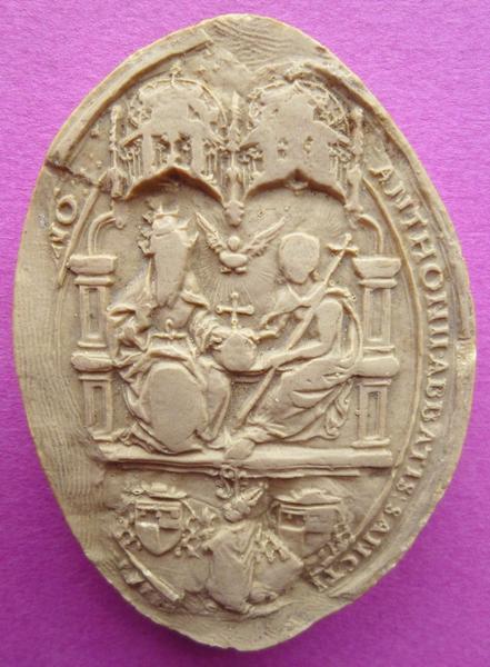 Moulage du sceau d'Antoine de Crevant, abbé de la Trinité de Vendôme (titre d'usage)_0