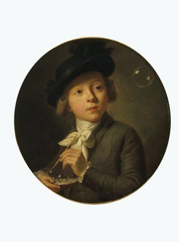 Jeune garçon faisant des bulles de savon_0