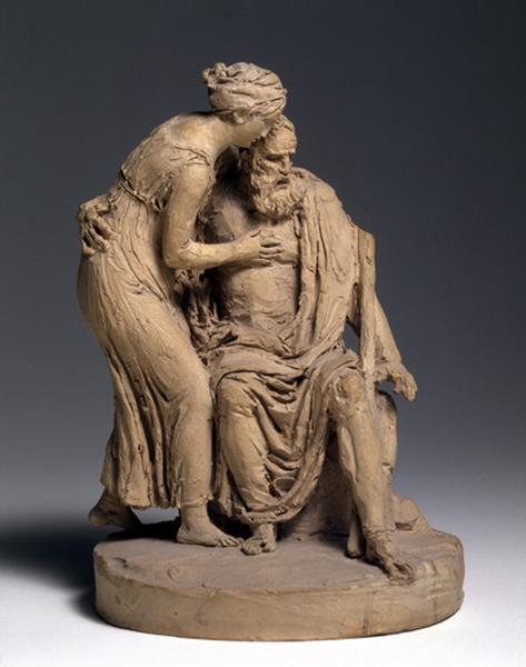 MARIN Joseph Charles (sculpteur) : Oedipe et Antigone