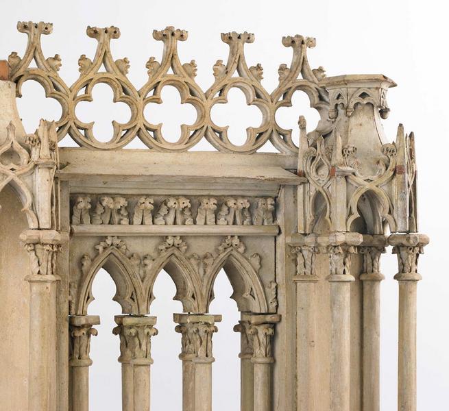 Modèle d'une face du troisième étage des tours de la cathédrale Sainte-Croix d'Orléans_0