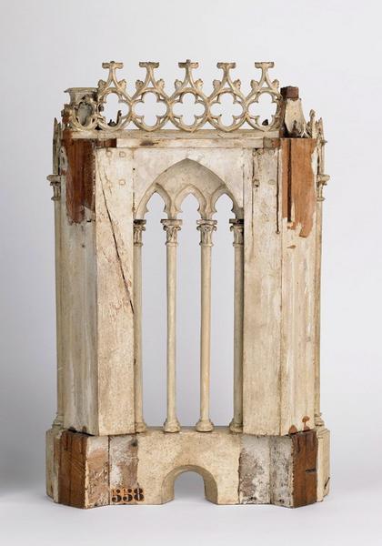 anonyme (sculpteur), TROUARD Louis François (architecte) : Modèle d'une face du troisième étage des tours de la cathédrale Sainte-Croix d'Orléans