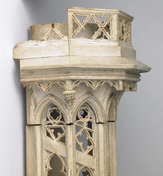 anonyme (sculpteur), TROUARD Louis François(architecte) : Modèle de la tourelle-escalier nord-ouest pour le premier étage de la tour sud de la cathédrale Sainte Croix d'Orléans