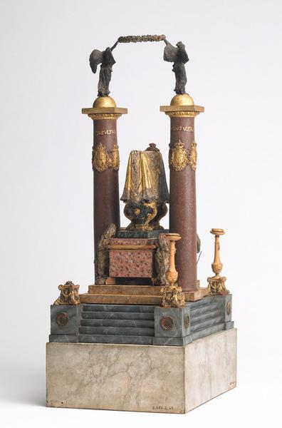 PARIS Pierre Adrien : Catafalque de Charles III, roi d'Espagne