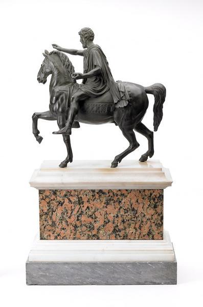 RIGHETTI Francesco (attribué à) (sculpteur, fondeur) : Statue équestre de Marc-Aurèle