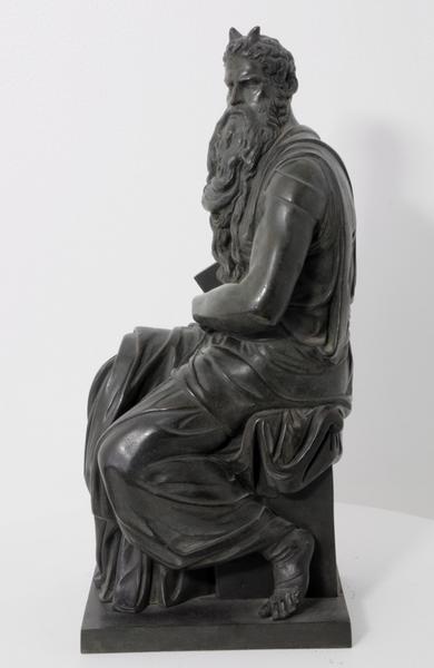RIGHETTI Francesco (sculpteur, fondeur), RIGHETTI Aloys (sculpteur, fondeur), BUONARROTI Michelangelo (d'après) (sculpteur) : Moïse