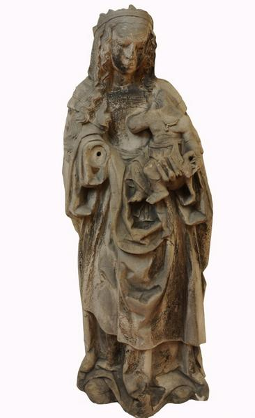 anonyme (sculpteur) : Vierge et l'Enfant tenant un oiseau