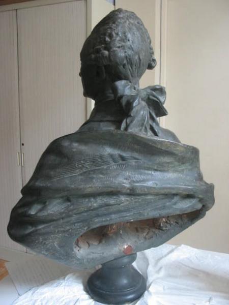 HOUDON Jean-Antoine (sculpteur) : Buste du Duc de Nivernais
