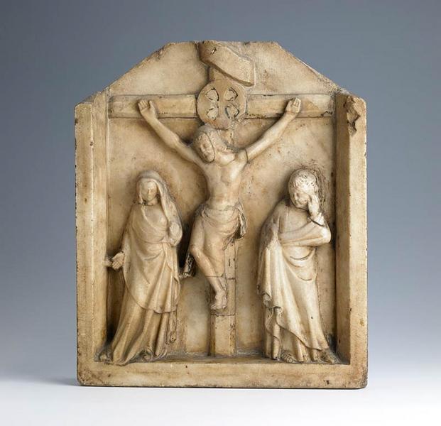 Le Christ en croix entre la Vierge et Saint Jean_0