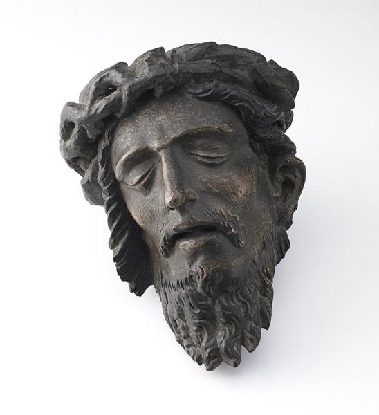 anonyme (sculpteur) : Tête de Christ couronnée d'épines