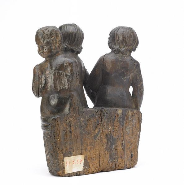 anonyme (sculpteur) : Les trois enfants sortant du saloir