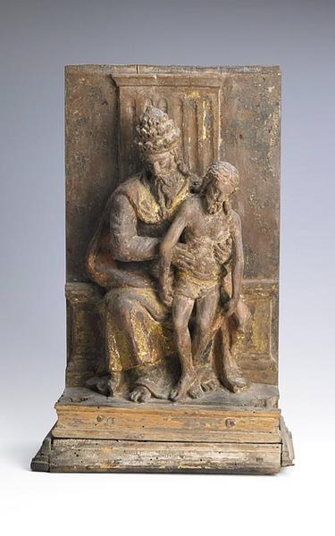 anonyme (sculpteur) : Dieu le Père soutenant le Christ mort