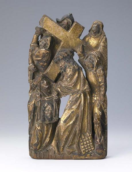 anonyme (sculpteur) : Le portement de croix avec Sainte Véronique
