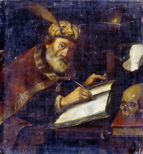 anonyme : Saint écrivant, Portrait de Florent Chrétien