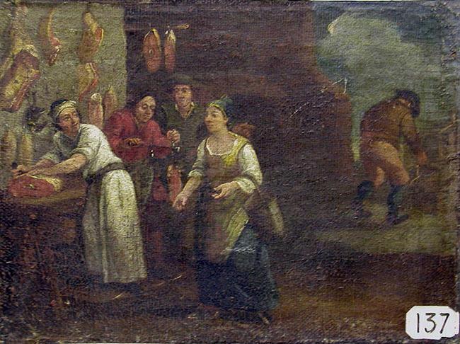 Scène de boucherie ; Chez le boucher (autre titre)