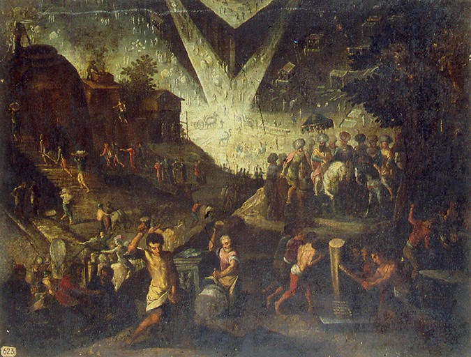 anonyme : La construction de la Tour de Babel