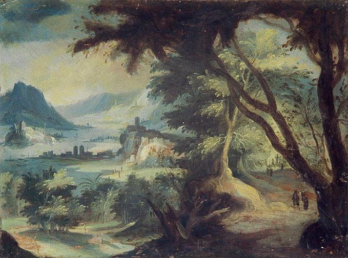 BRIL Paul  (genre de), anonyme : Paysage avec une rivière