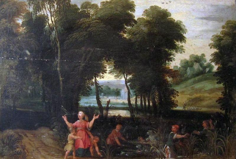Latone avec Diane et Apollon et les Paysans lyciens transformés en grenouilles