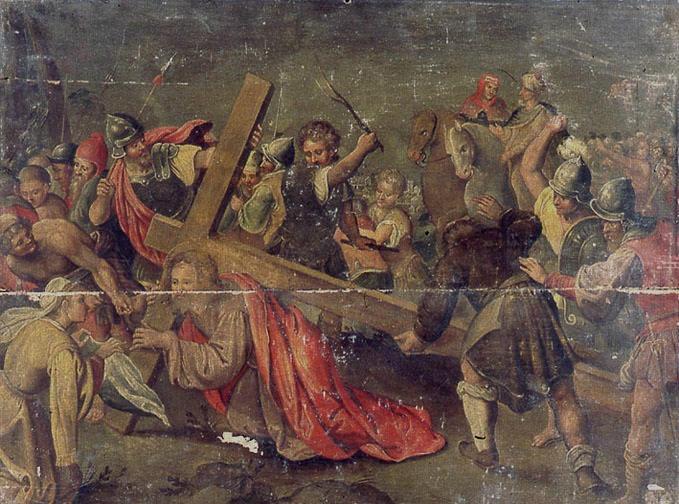 Le portement de croix avec sainte Véronique