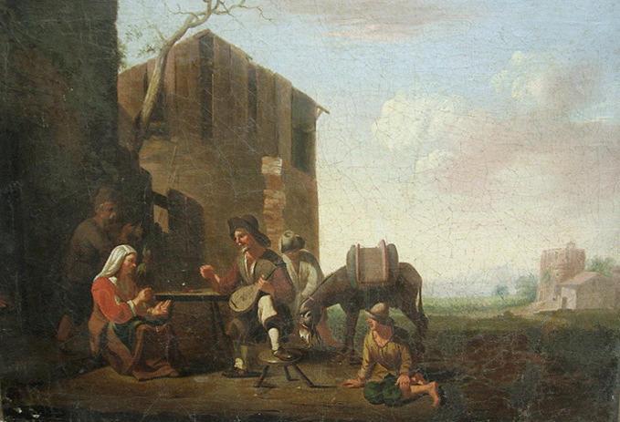 LINGELBACH Johannes : Terrasse d'auberge
