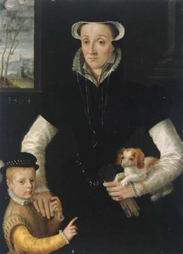 Veuve et son fils